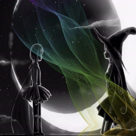 魔女 月の Android スマホ 壁紙