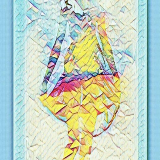 女性 モザイクの Android スマホ 壁紙