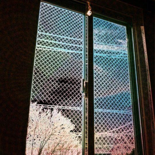 窓辺 桜の Android スマホ 壁紙