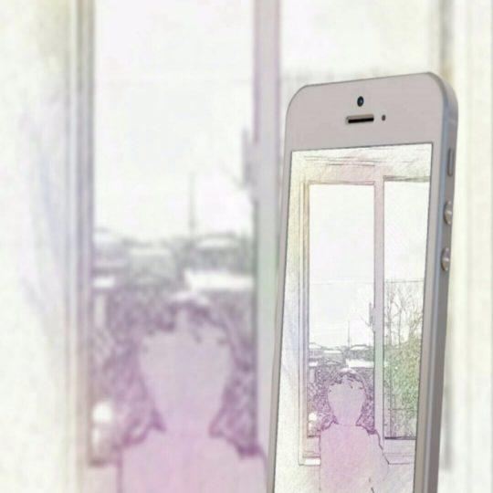 窓辺 スマホの Android スマホ 壁紙