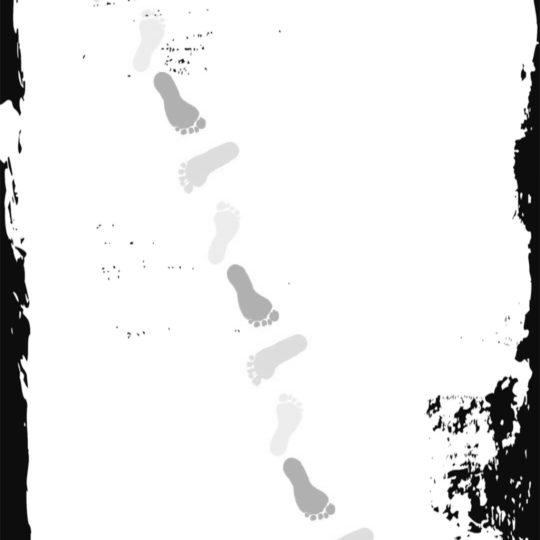 足跡 モノトーンの Android スマホ 壁紙