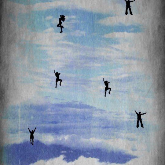 人 空の Android スマホ 壁紙