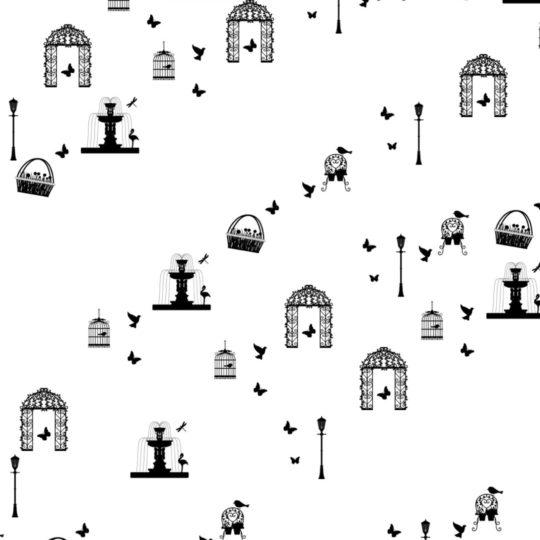 公園 モノクロの Android スマホ 壁紙