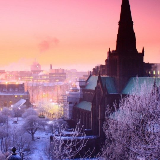 風景街雪の Android スマホ 壁紙