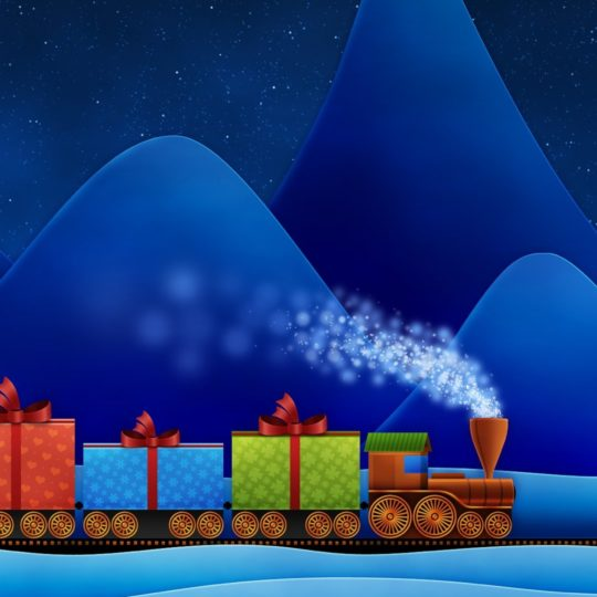 クリスマス汽車の Android スマホ 壁紙