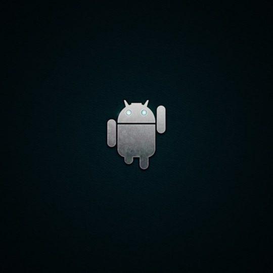 ロゴアンドロイド黒の Android スマホ 壁紙