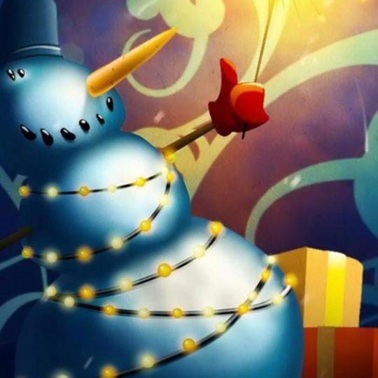 クリスマス雪だるまの Android スマホ 壁紙