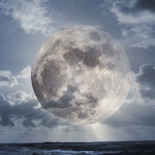 風景月の Android スマホ 壁紙