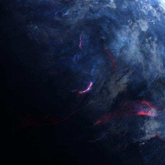 惑星青黒クールの Android スマホ 壁紙