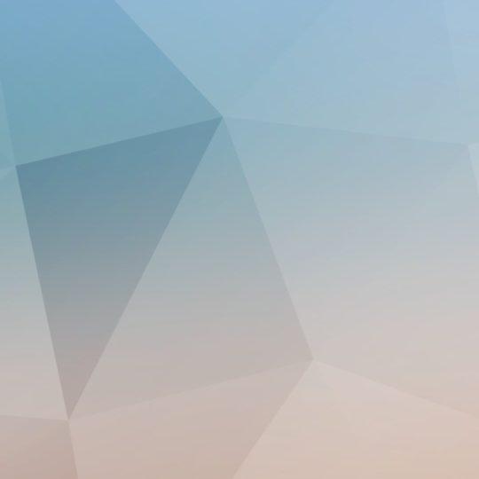 模様青白橙の Android スマホ 壁紙