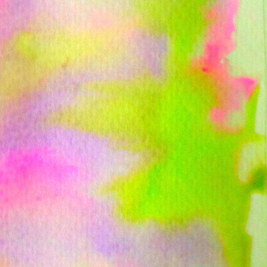 模様紫桃緑絵の具の Android スマホ 壁紙