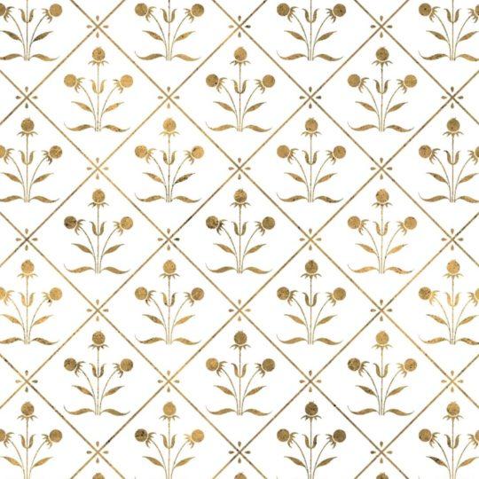 イラスト模様金植物の Android スマホ 壁紙
