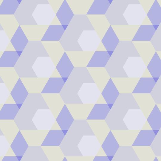 幾何学模様紫黄の Android スマホ 壁紙