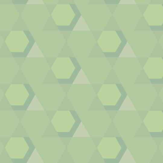 幾何学模様黄緑の Android スマホ 壁紙