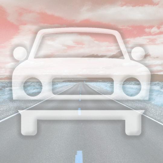 風景車道路橙の Android スマホ 壁紙