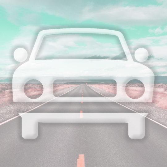 風景車道路水色の Android スマホ 壁紙