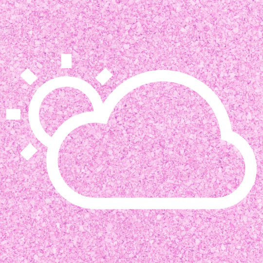 太陽雲天気桃の Android スマホ 壁紙