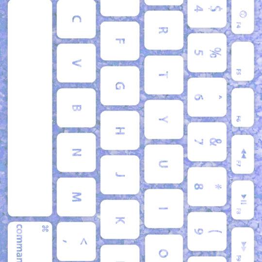 キーボード青紫白の Android スマホ 壁紙