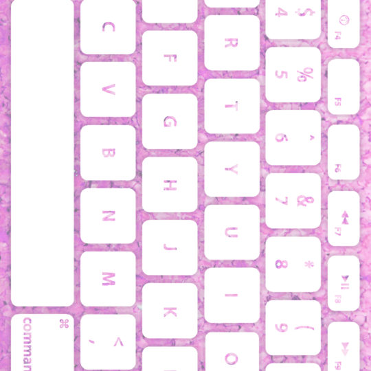 キーボード桃白の Android スマホ 壁紙