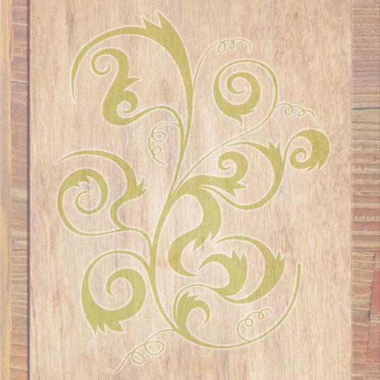 木目茶黄緑の Android スマホ 壁紙