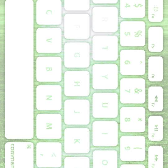 海キーボード緑白の Android スマホ 壁紙