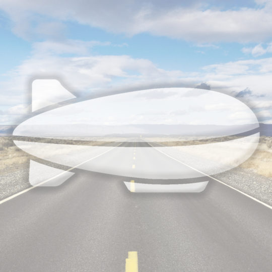 風景道路飛行船青の Android スマホ 壁紙