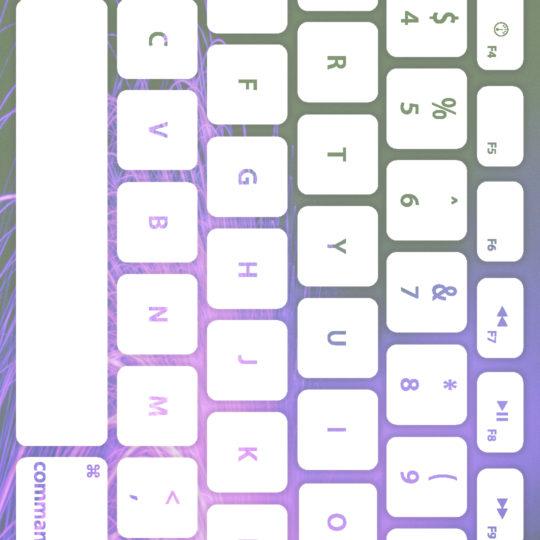 キーボード紫白の Android スマホ 壁紙