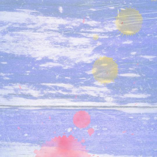 木目水滴紫赤の Android スマホ 壁紙