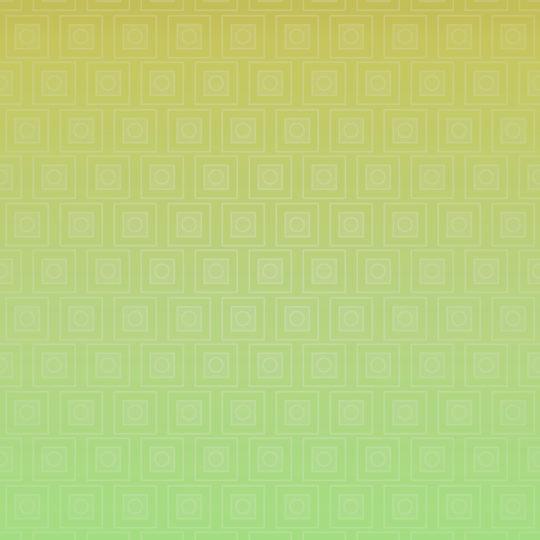 四角グラデーション模様黄緑の Android スマホ 壁紙