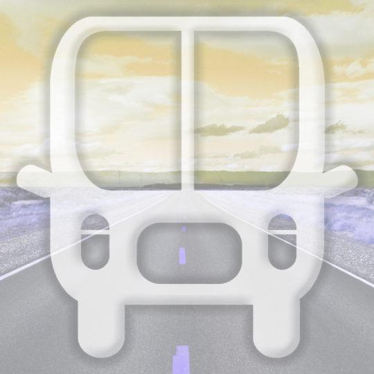 風景道路バス黄の Android スマホ 壁紙
