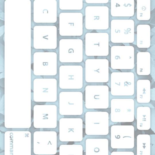 葉キーボード青白の Android スマホ 壁紙