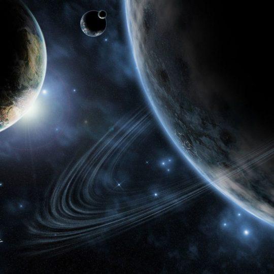 宇宙惑星の Android スマホ 壁紙