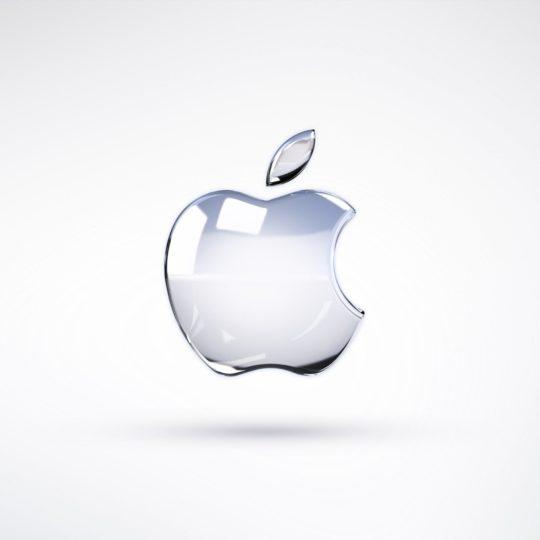 Appleガラス白の Android スマホ 壁紙