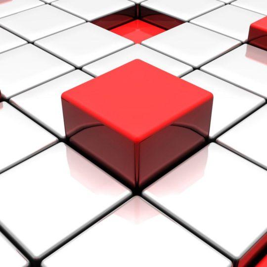 クールブロック赤白の Android スマホ 壁紙