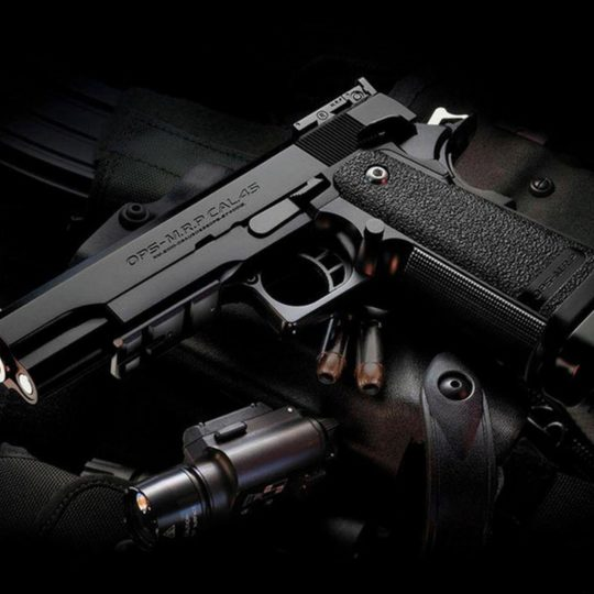 クール拳銃黒の Android スマホ 壁紙