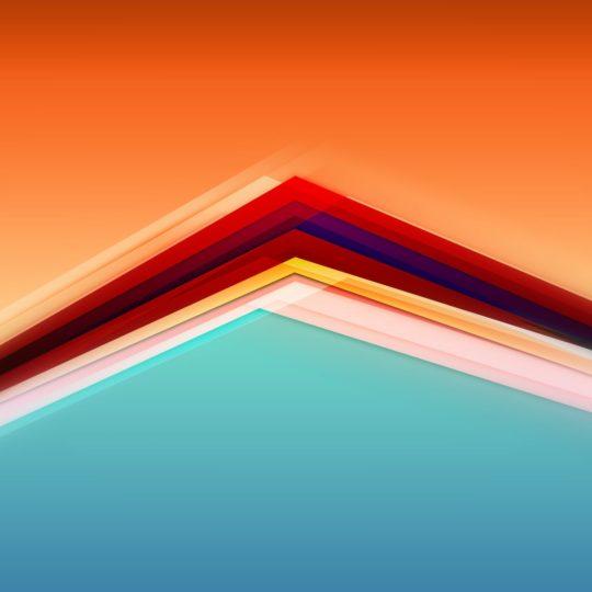 模様青橙の Android スマホ 壁紙