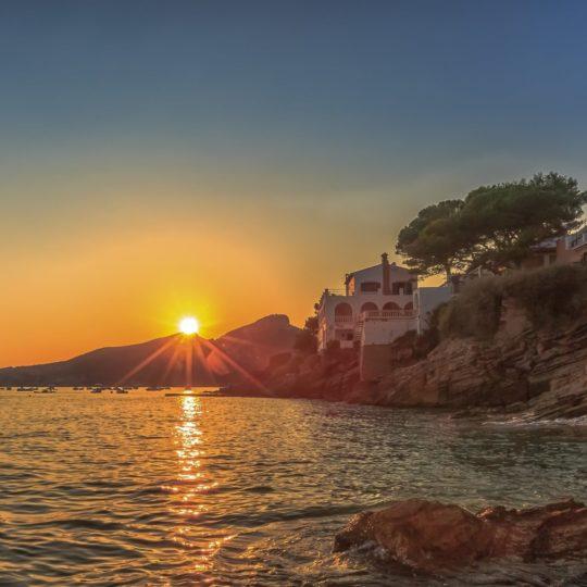 景色夕日海の Android スマホ 壁紙