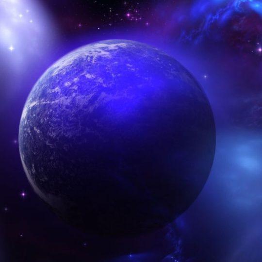 宇宙青紫の Android スマホ 壁紙