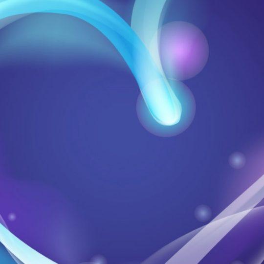 かわいいハート紫の Android スマホ 壁紙