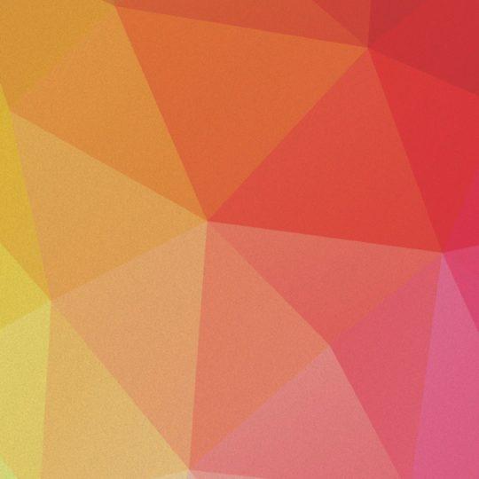模様赤橙桃黄緑の Android スマホ 壁紙