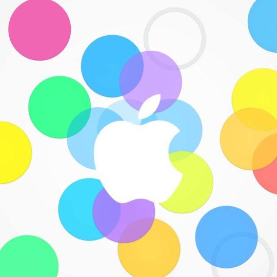 appleロゴカラフルの Android スマホ 壁紙