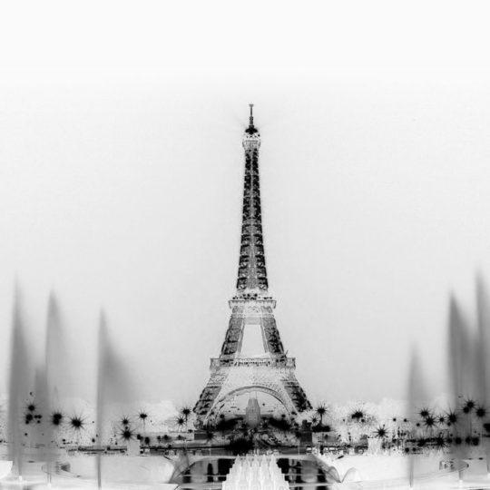 風景モノクロエッフェル塔の Android スマホ 壁紙