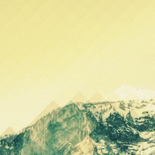 風景雪山黄の Android スマホ 壁紙