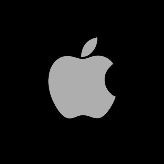 Appleロゴ黒クールの Android スマホ 壁紙