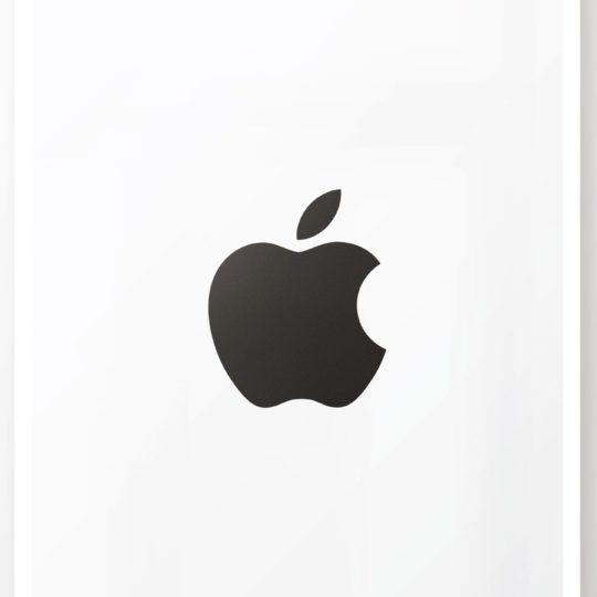 Appleロゴ白黒クールポスターの Android スマホ 壁紙