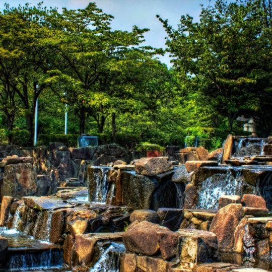 風景公園水の Android スマホ 壁紙