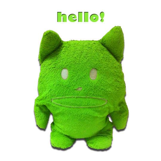 キャラ緑の Android スマホ 壁紙