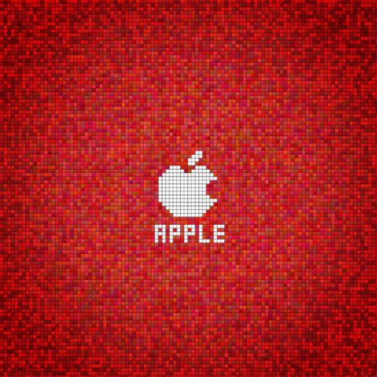 Appleドット赤の Android スマホ 壁紙