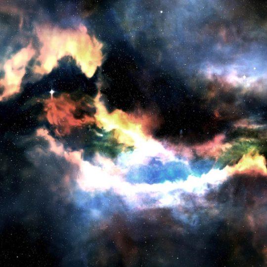 宇宙星雲の Android スマホ 壁紙