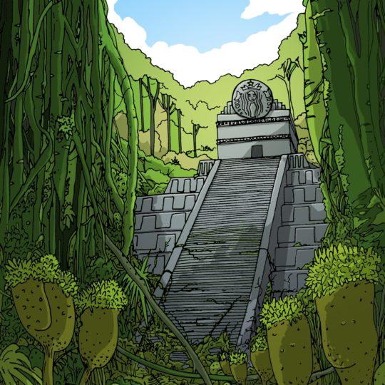 風景遺跡絵の Android スマホ 壁紙